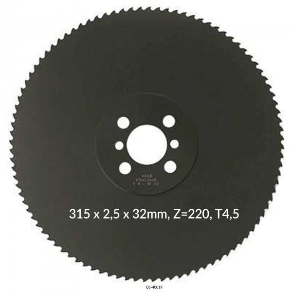 Encut Hochleistungs-Metallkreissägeblatt 315 x 2,5 x 32mm, Z=220, T4,5 HSS DM05