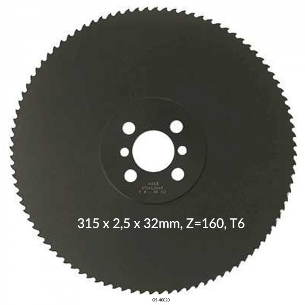 Encut Hochleistungs-Metallkreissägeblatt 315 x 2,5 x 32mm, Z=160, T6 HSS DM05