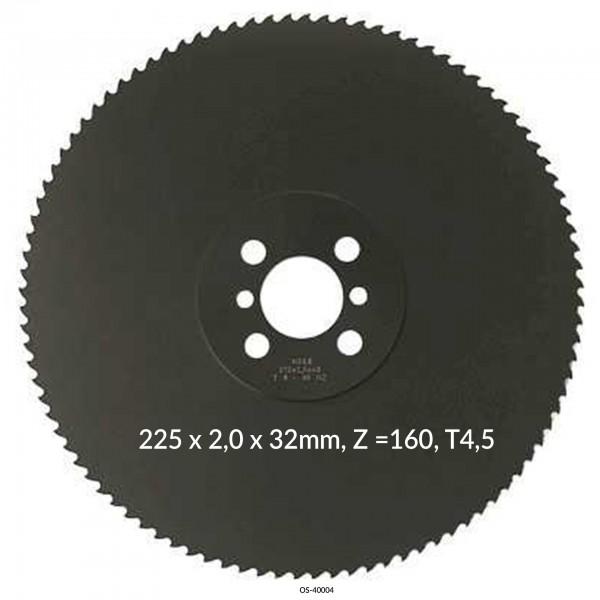 Encut Hochleistungs-Metallkreissägeblatt 225 x 2,0 x 32mm, Z =160, T4,5 HSS DM05