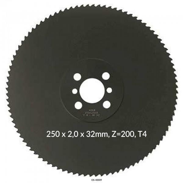 Encut Hochleistungs-Metallkreissägeblatt 250 x 2,0 x 32mm, Z=200, T4 HSS DM05