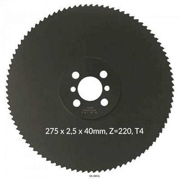 Encut Hochleistungs-Metallkreissägeblatt 275 x 2,5 x 40mm, Z=220, T4 HSS DM05