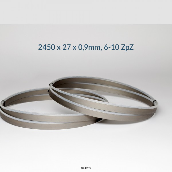 Encut Hochleistungs-Bandsägeblatt 2450 x 27 x 0,9mm, 6-10 ZpZ Bimetall M42