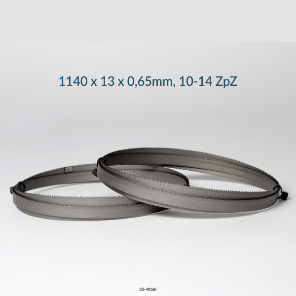 2er SET Encut Hochleistungs-Bandsägeblatt 1140 x 13 x 0,65mm, 8-12 ZpZ Bimetall M42