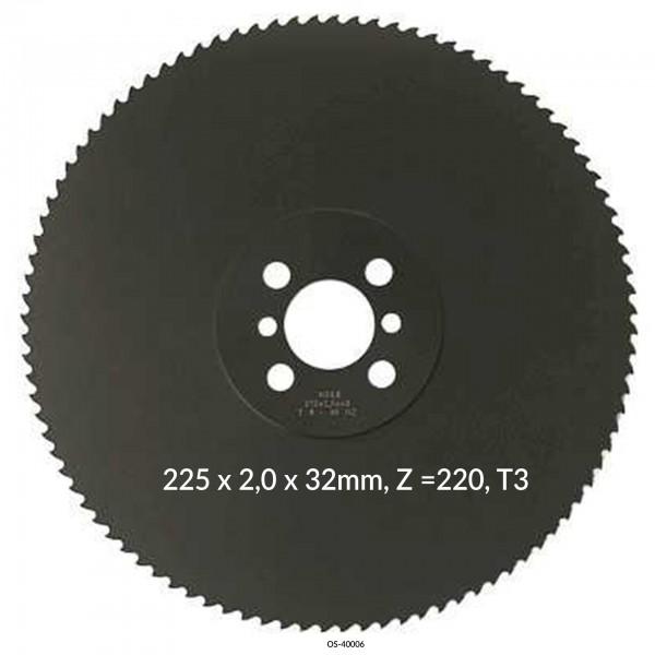 Encut Hochleistungs-Metallkreissägeblatt 225 x 2,0 x 32mm, Z =220, T3 HSS DM05