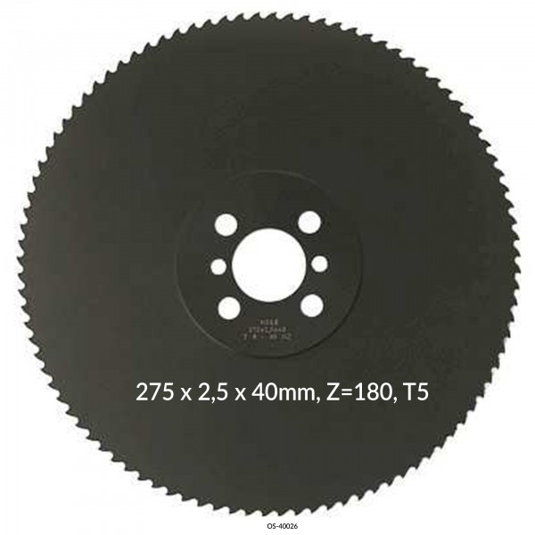 Encut Hochleistungs-Metallkreissägeblatt 275 x 2,5 x 40mm, Z=180, T5 HSS-E Cobalt