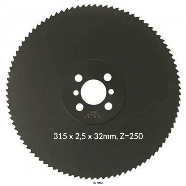 Encut Hochleistungs-Metallkreissägeblatt 315 x 2,5 x 32mm, Z=250 HSS DM05