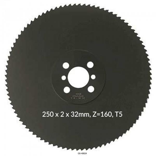 Encut Hochleistungs-Metallkreissägeblatt 250 x 2 x 32mm, Z=160, T5 HSS-E Cobalt